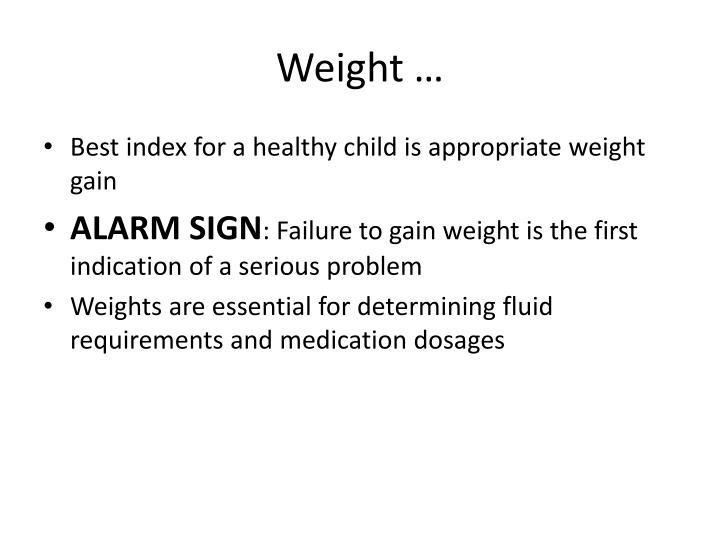 Weight …