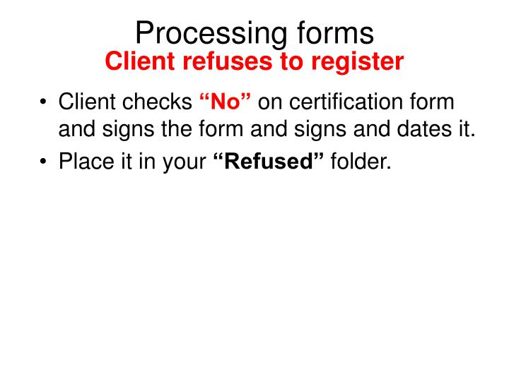 Processing forms