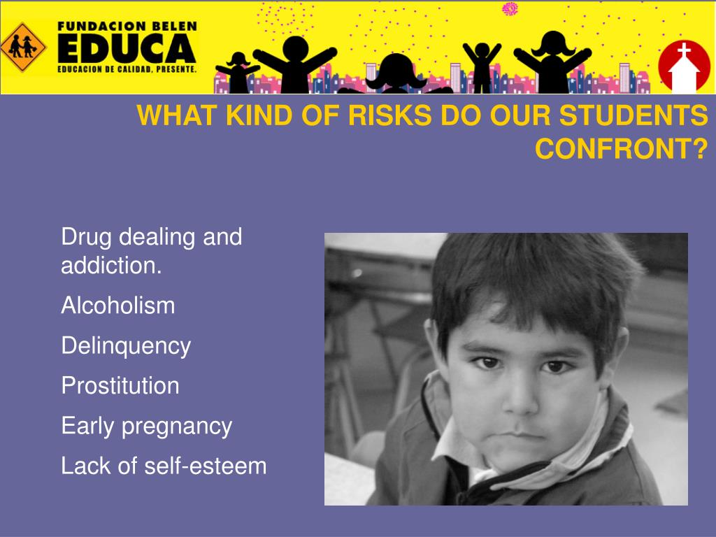 WHAT KIND OF RISKS DO OUR STUDENTS CONFRONT?