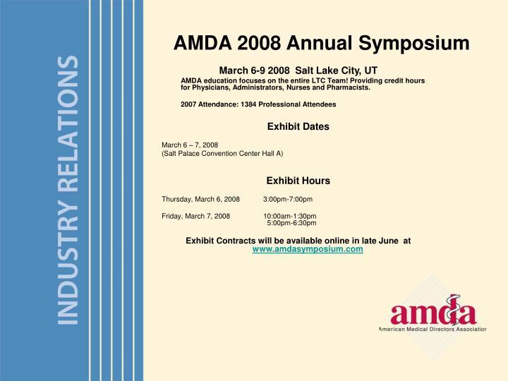 AMDA 2008 Annual Symposium