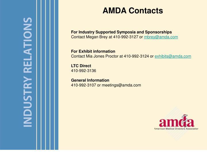 AMDA Contacts