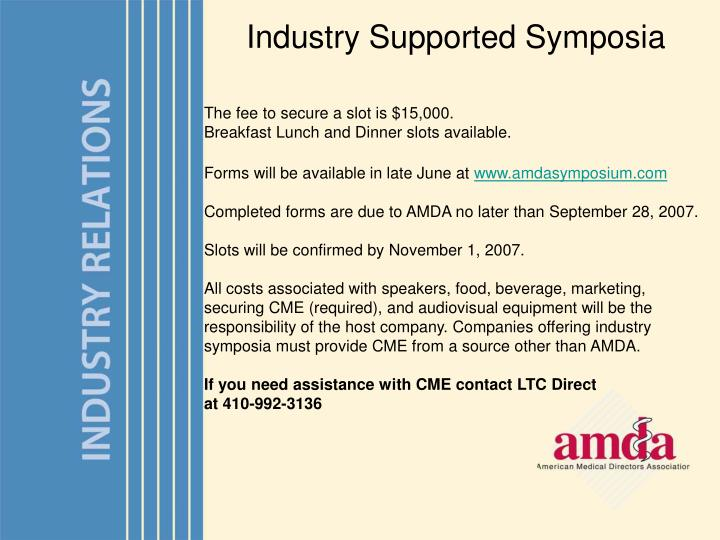 Industry Supported Symposia