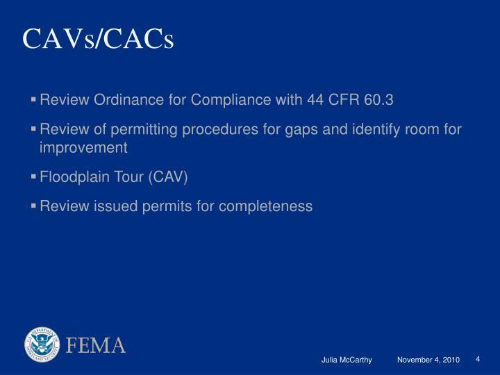 CAVs/CACs