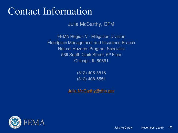 Julia McCarthy, CFM