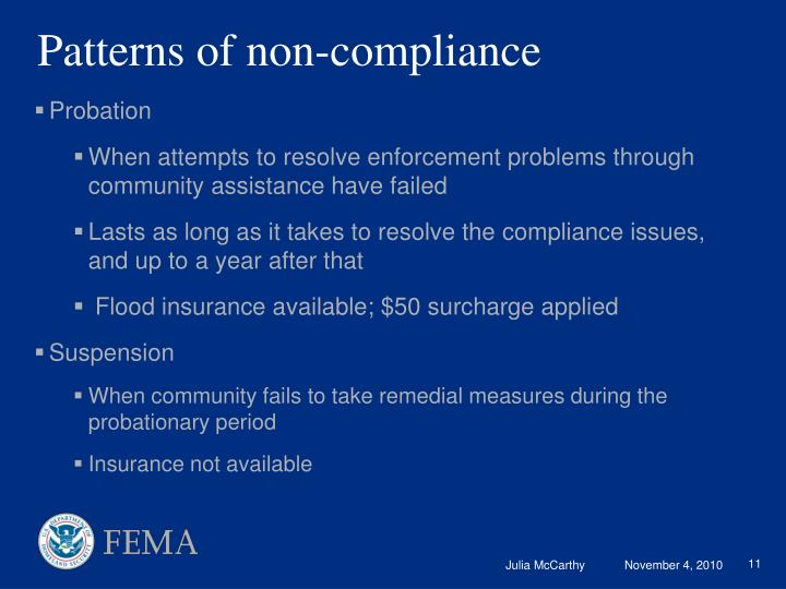 Patterns of non-compliance