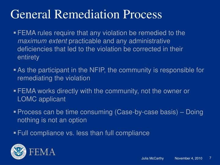 General Remediation Process