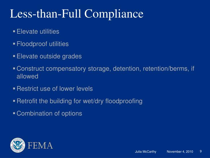 Less-than-Full Compliance