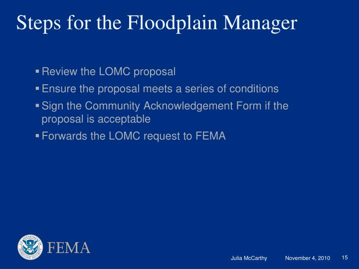 Review the LOMC proposal