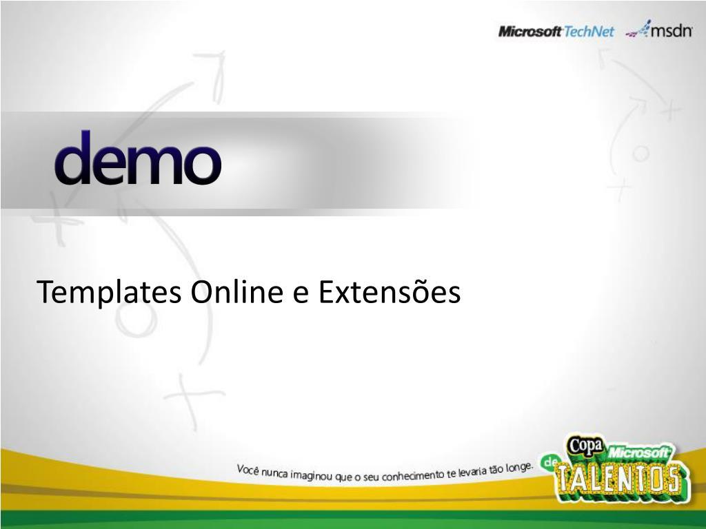 Templates Online e Extensões