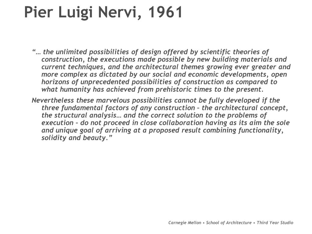 Pier Luigi Nervi, 1961
