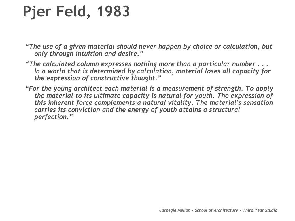 Pjer Feld, 1983