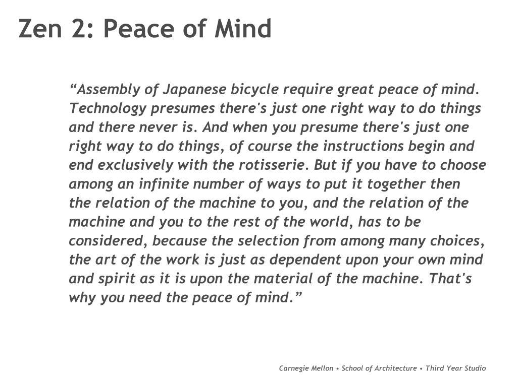 Zen 2: Peace of Mind
