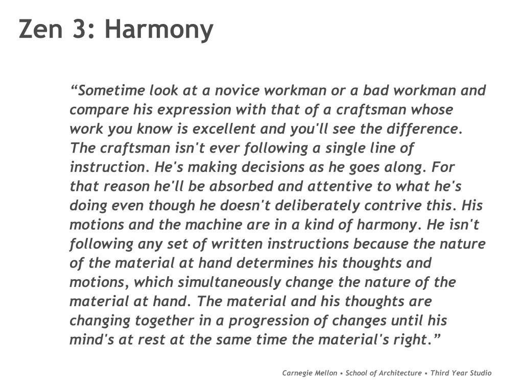 Zen 3: Harmony