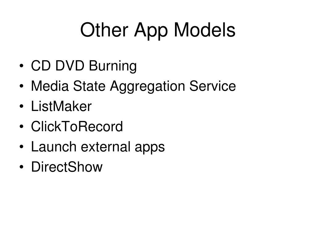 Other App Models