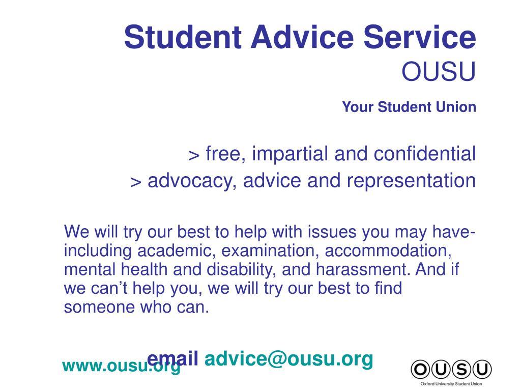 Student Advice Service