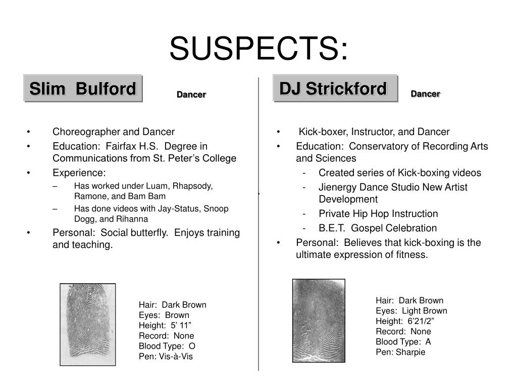 SUSPECTS: