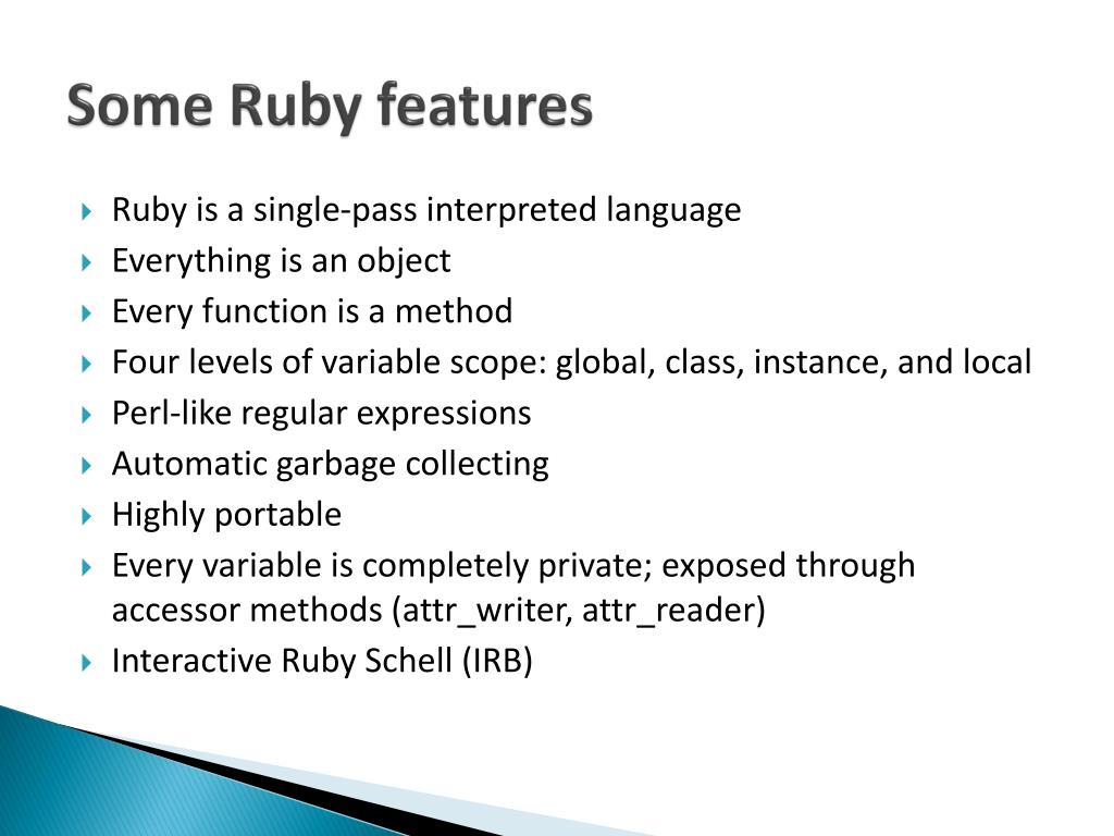 Some Ruby features