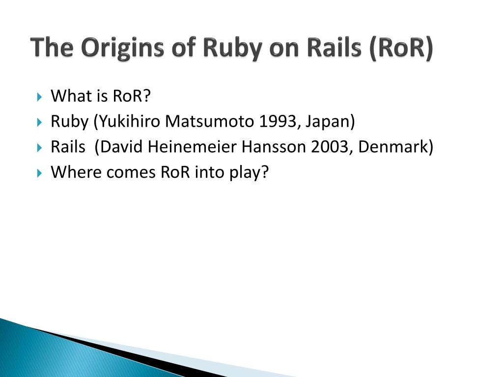 The Origins of Ruby on Rails (