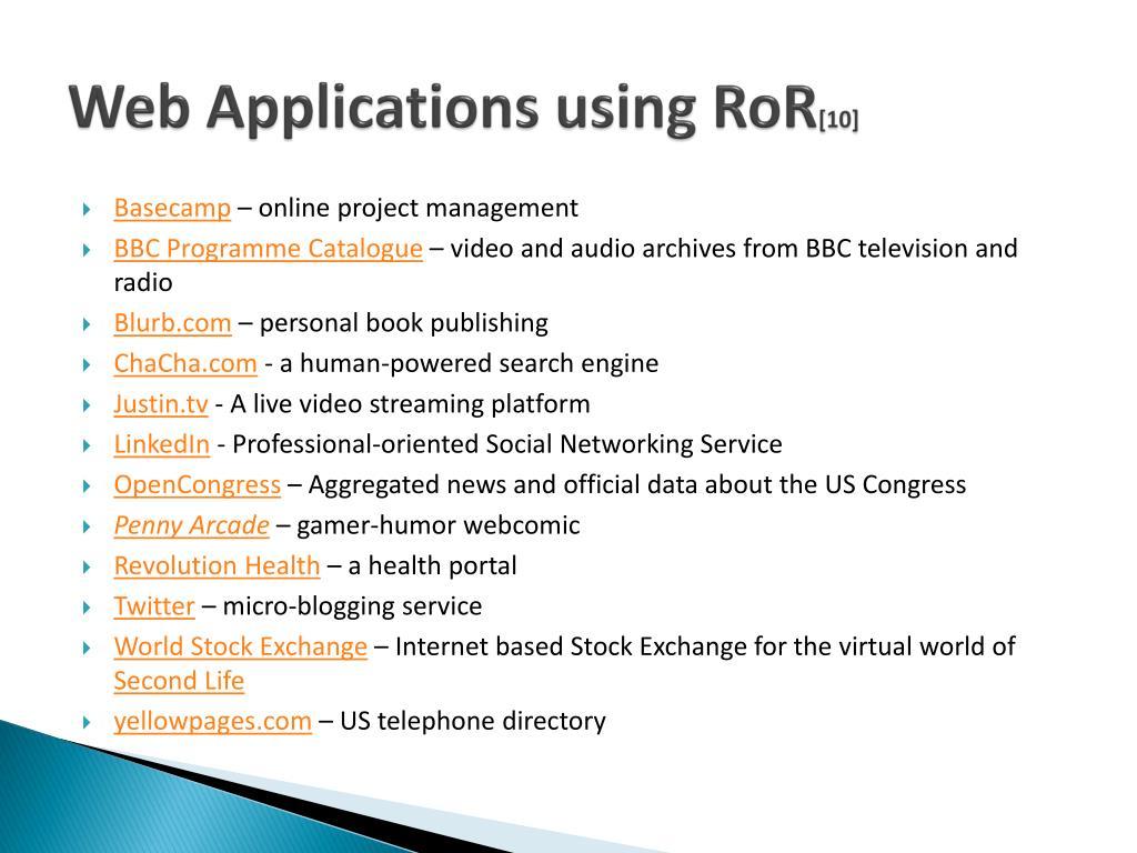 Web Applications using