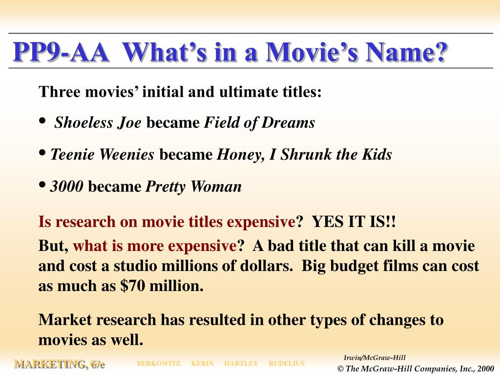 PP9-AA  What's in a Movie's Name?