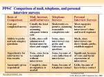 pp9 c comparison of mail telephone and personal interview surveys