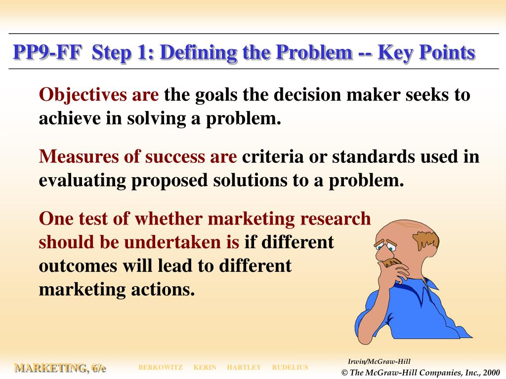 PP9-FF  Step 1: Defining the Problem -- Key Points
