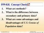 pp9 kk concept check