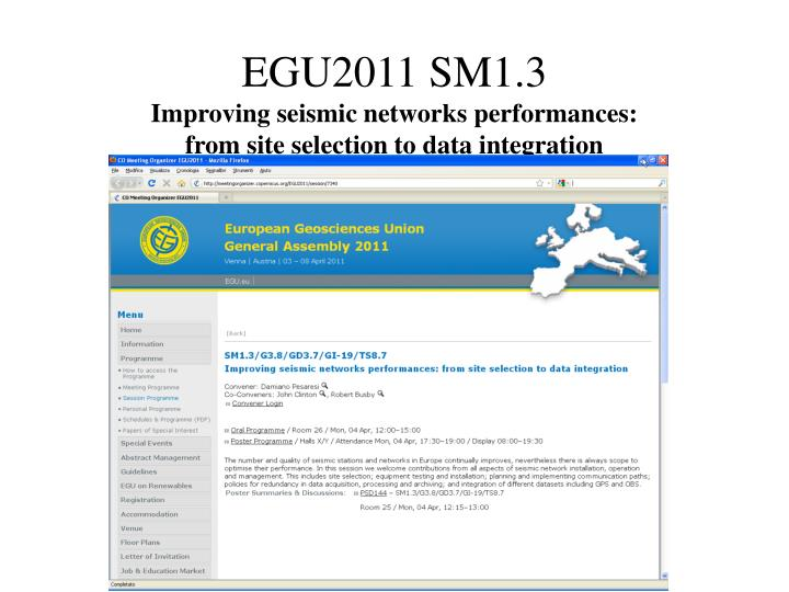 EGU2011 SM1.3