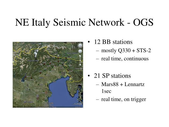 NE Italy Seismic Network - OGS