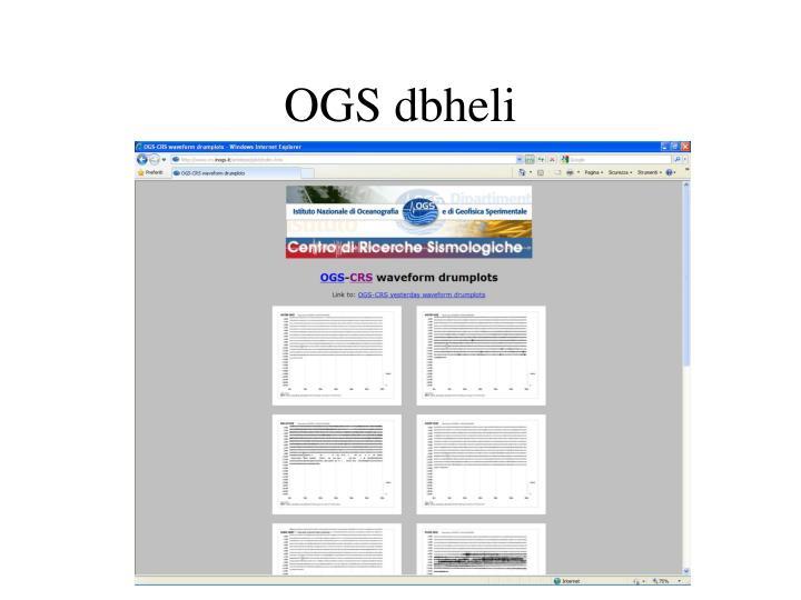 OGS dbheli