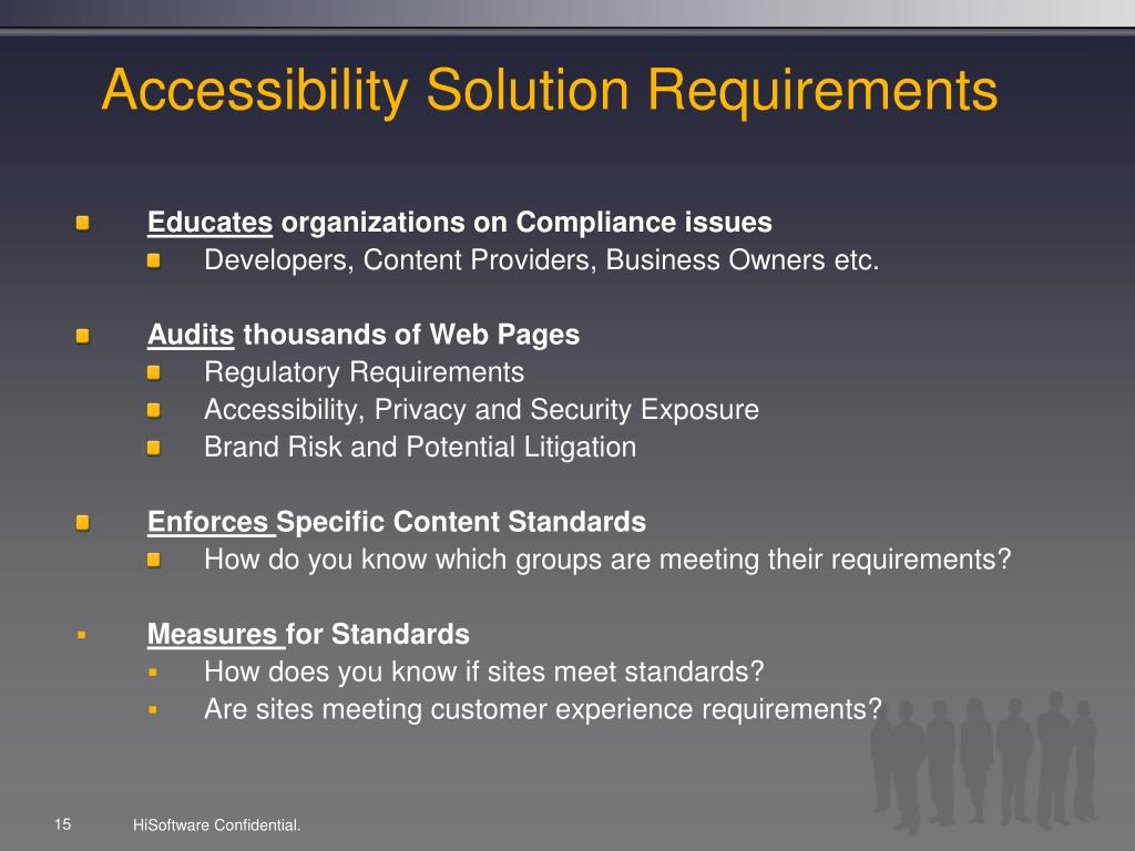 Accessibility Solution Requirements