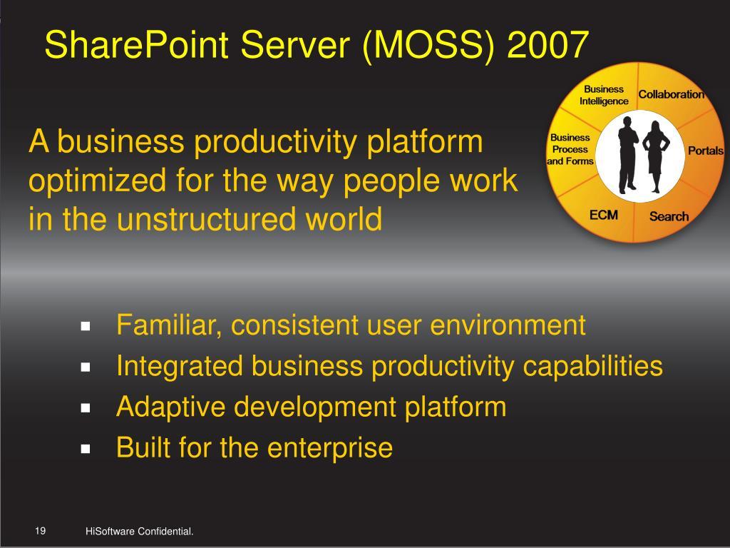 SharePoint Server (MOSS) 2007