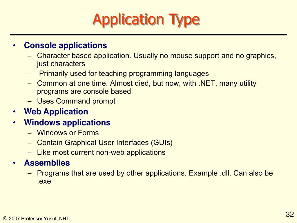 Application Type