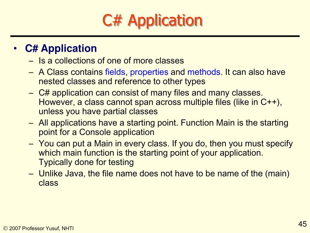 C# Application