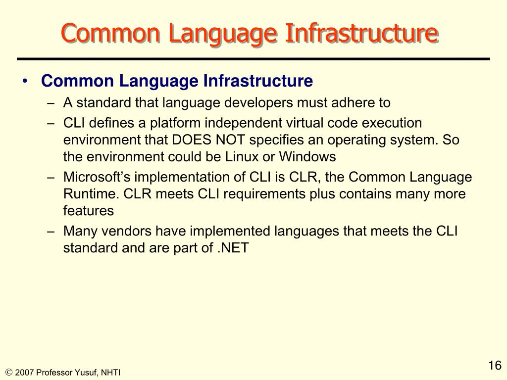 Common Language Infrastructure