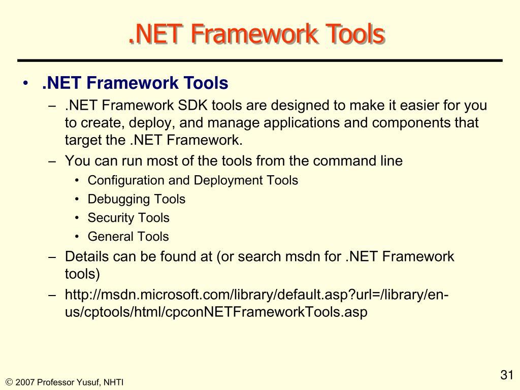 .NET Framework Tools