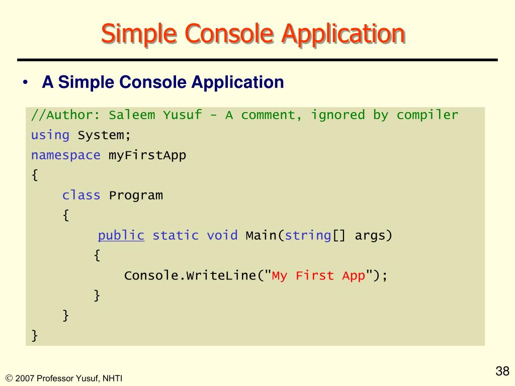Simple Console Application