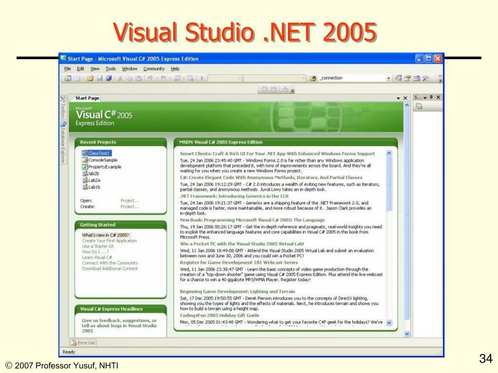 Visual Studio .NET 2005