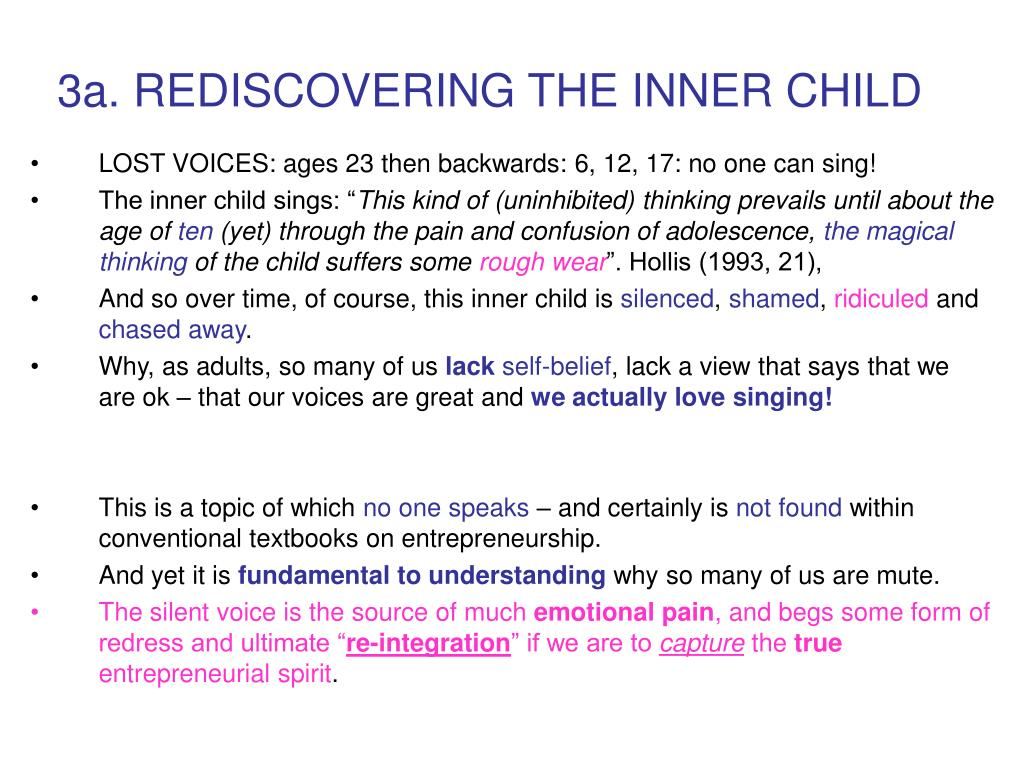 3a. REDISCOVERING THE INNER CHILD