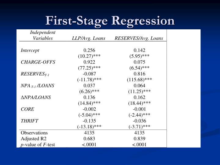First-Stage Regression