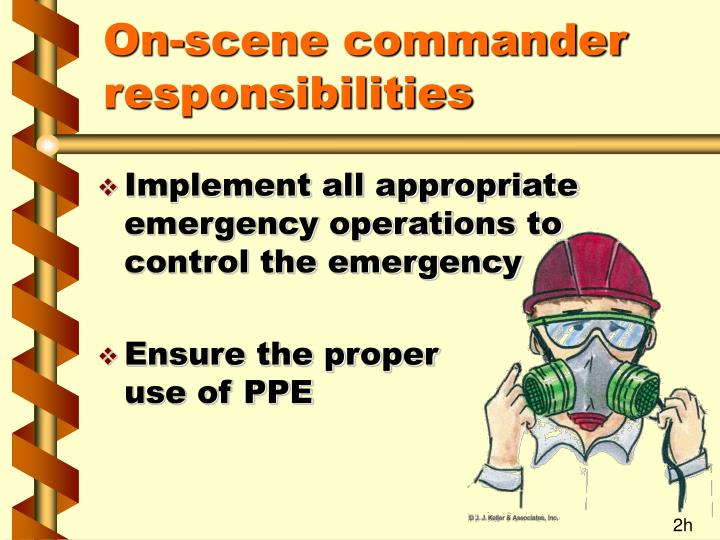 On-scene commander responsibilities