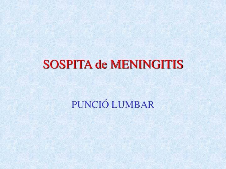 SOSPITA de MENINGITIS