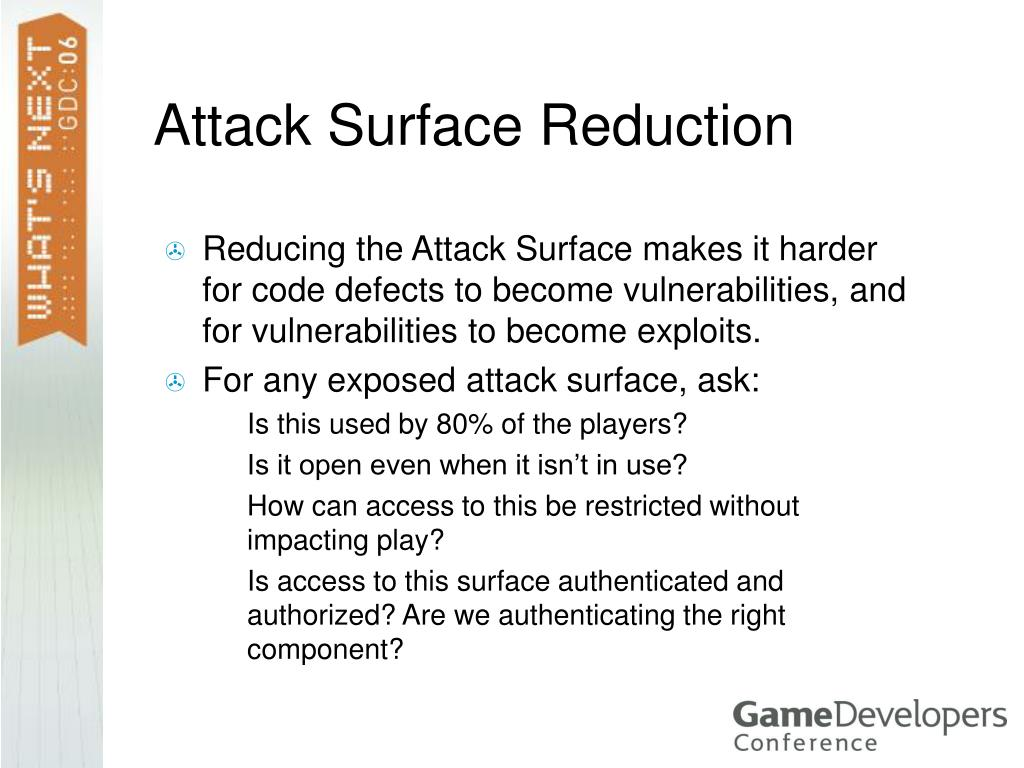 Attack Surface Reduction