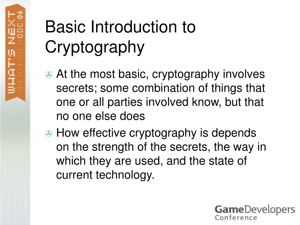 Basic Introduction to Cryptography
