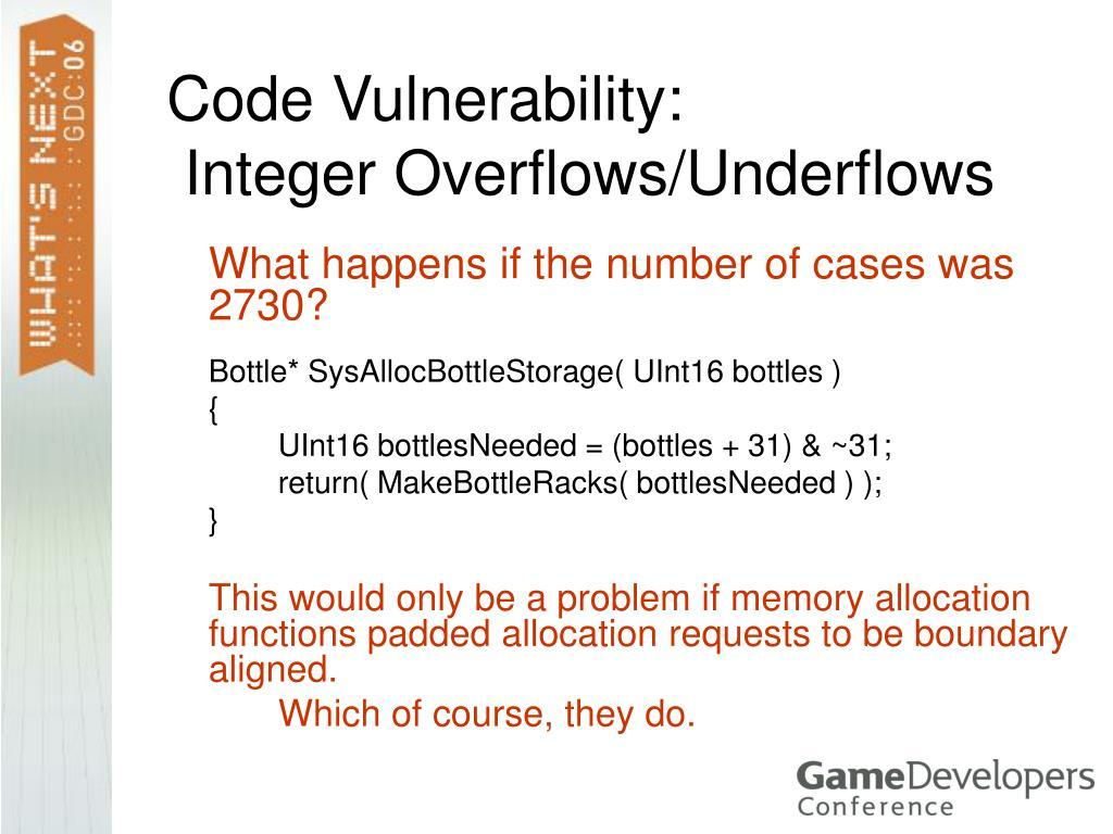 Code Vulnerability: