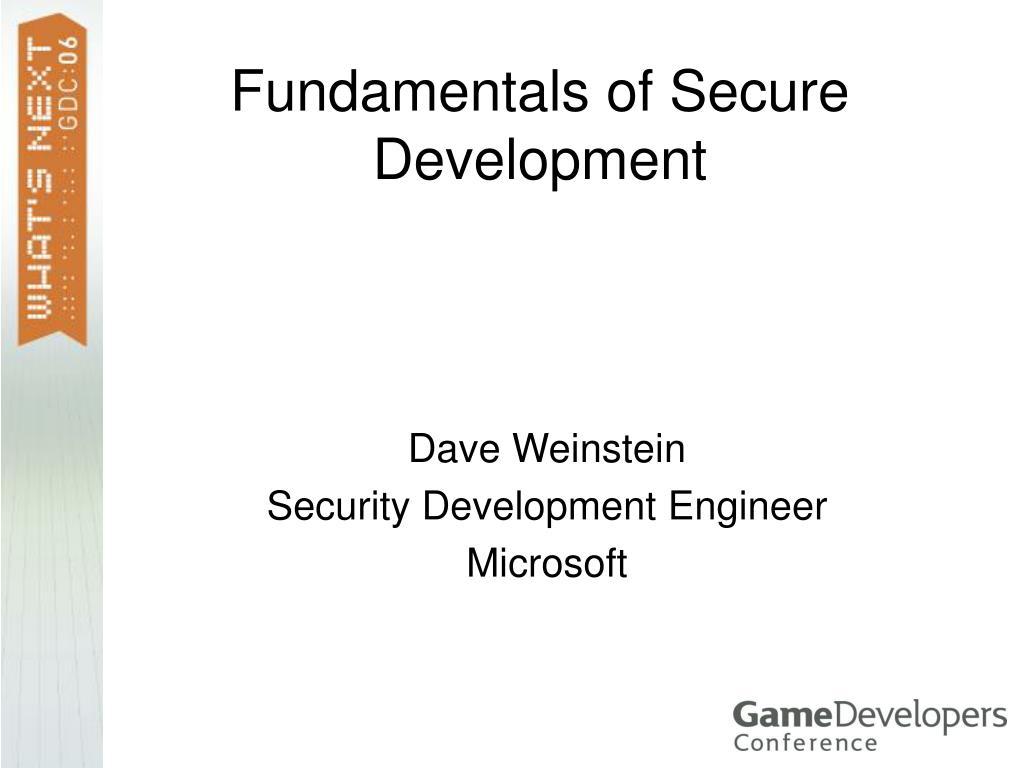 Fundamentals of Secure Development
