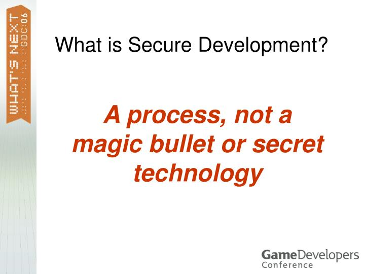 What is secure development