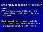 am i ready to take an ap course