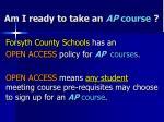 am i ready to take an ap course12
