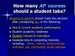 how many ap courses should a student take